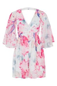 Wolf & Whistle Jessica Butterfly Sleeve Playsuit