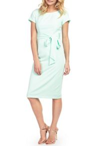 Wolf & Whistle Midi Length Belted Dress