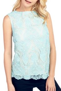 Wolf & Whistle Crochet Lace Top