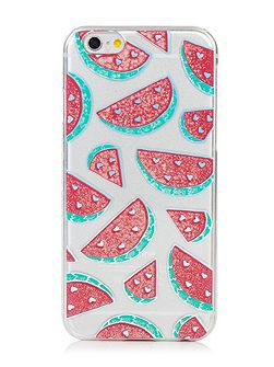 Iphone 6 Glitter Watermelon Case