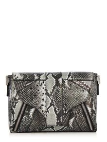 Skinnydip Grey snake lemur cross body bag