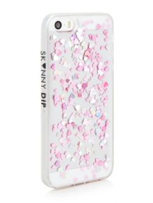 Skinnydip Iphone 5 heart sequin jelly phone case