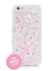 Skinnydip Iphone 6 heart sequin jelly phone case