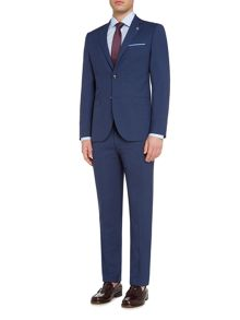Original Penguin Navy micro gingham check suit