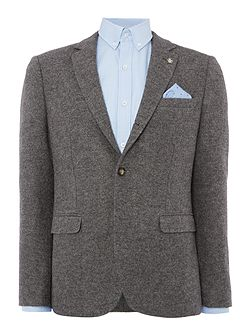 Boiled wool soft tailored jacket