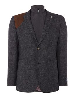 Soft Boucle Jacket with zip out gilet
