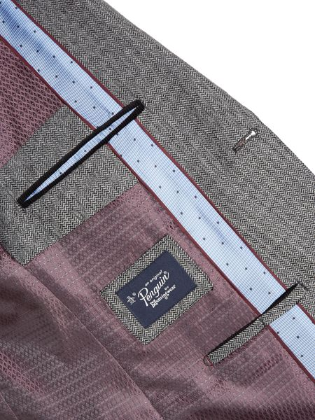 Original Penguin Herringbone grey tailored jacket