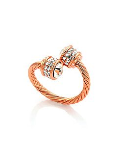 Rose gold plated bella ring crystal