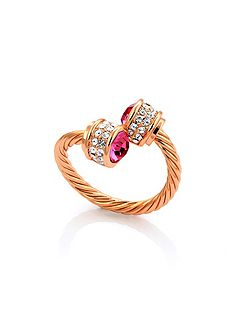 Rose gold plated bella ring rose