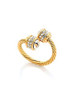 Gold plated bella ring crystal