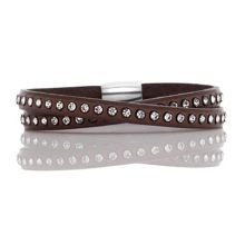 Fervor Montreal Italian leather wrap dark chocolate