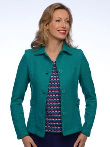 Button tab jacket