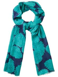 Abstract bloom scarf