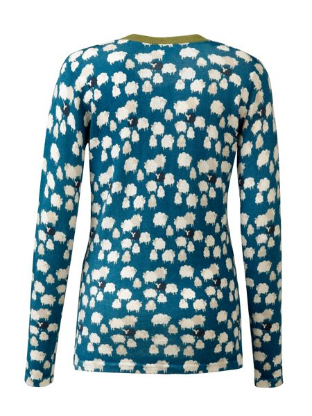 Tulchan Sheep Print Cardigan