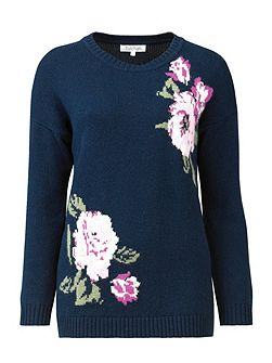 Chunky Floral Jumper
