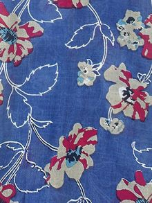 Tulchan Painted Floral Scarf