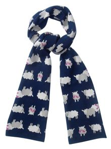 Knitted Sheep Scarf