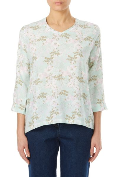 Tulchan Bouquet Print Top