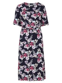 Tulchan Print Belted Dress