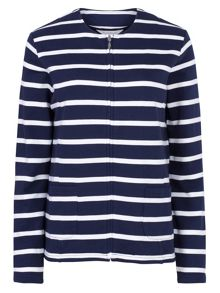 Tulchan Stripe Collarless Jacket