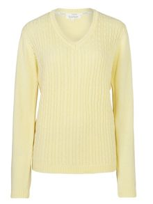 Tulchan V Neck Cable Jumper