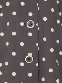 Tulchan Spot Print Fleece Lined Mac
