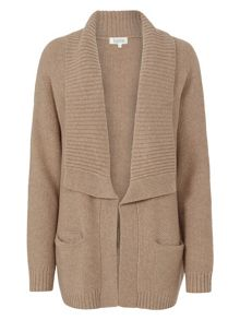 Tulchan Wide Collar Loose Cardigan