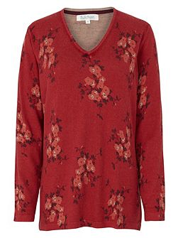 Simple Floral Tunic Jumper