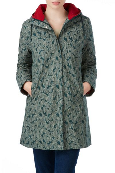 Tulchan Leaf Print Hooded Jacket