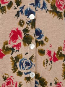 Tulchan Retro Rose Print Cardigan