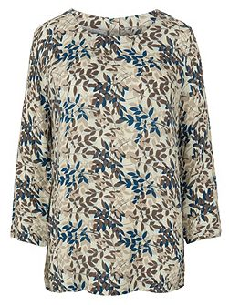 Viscose 3Qs Print Top