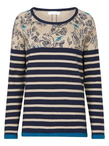 Tulchan Rose & Stripe Jumper