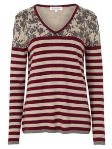 Tulchan Print And Stripe Jumper