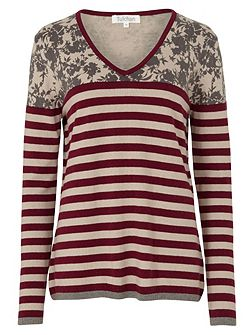 Print And Stripe Jumper