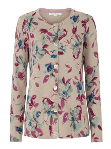 Tulchan Watercolour Flower Cardigan