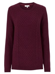 Tulchan Lattice & Cable Jumper