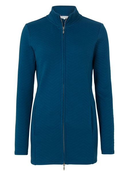 Tulchan Longline Quilted Sweat Jacket