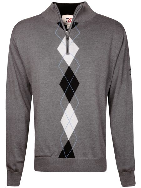Cutter and Buck Lined argyle windproof sweater