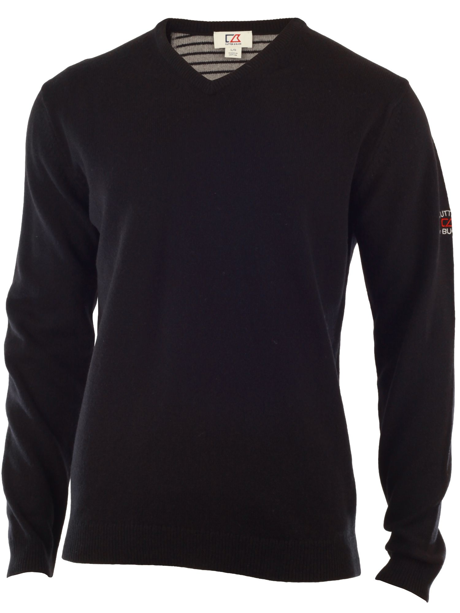 Cutter and Buck Men's Cutter and Buck Lambswool v neck sweater, Black