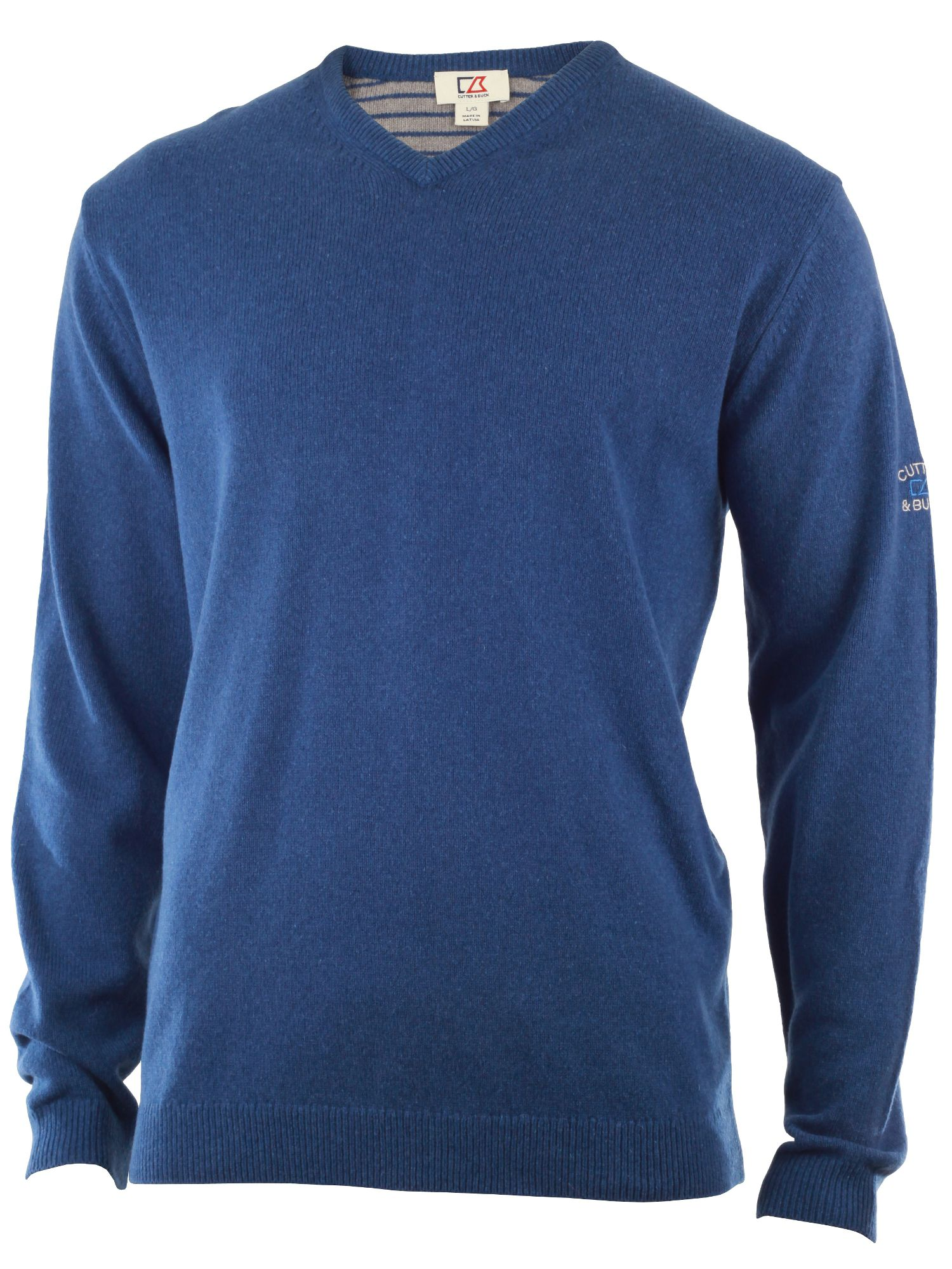 Cutter and Buck Men's Cutter and Buck Lambswool v neck sweater, Denim