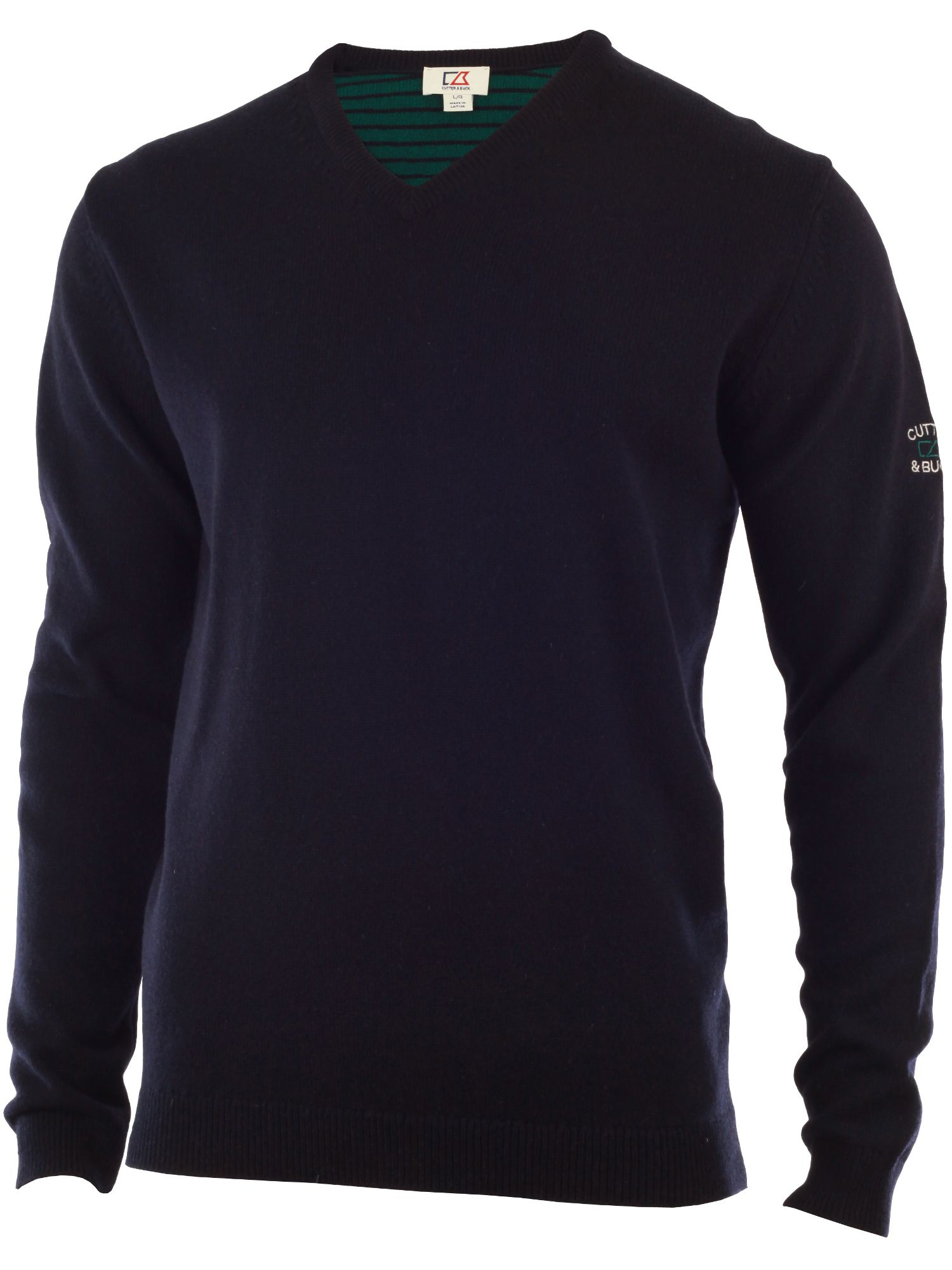 Men's Cutter and Buck Lambswool v neck sweater, Navy