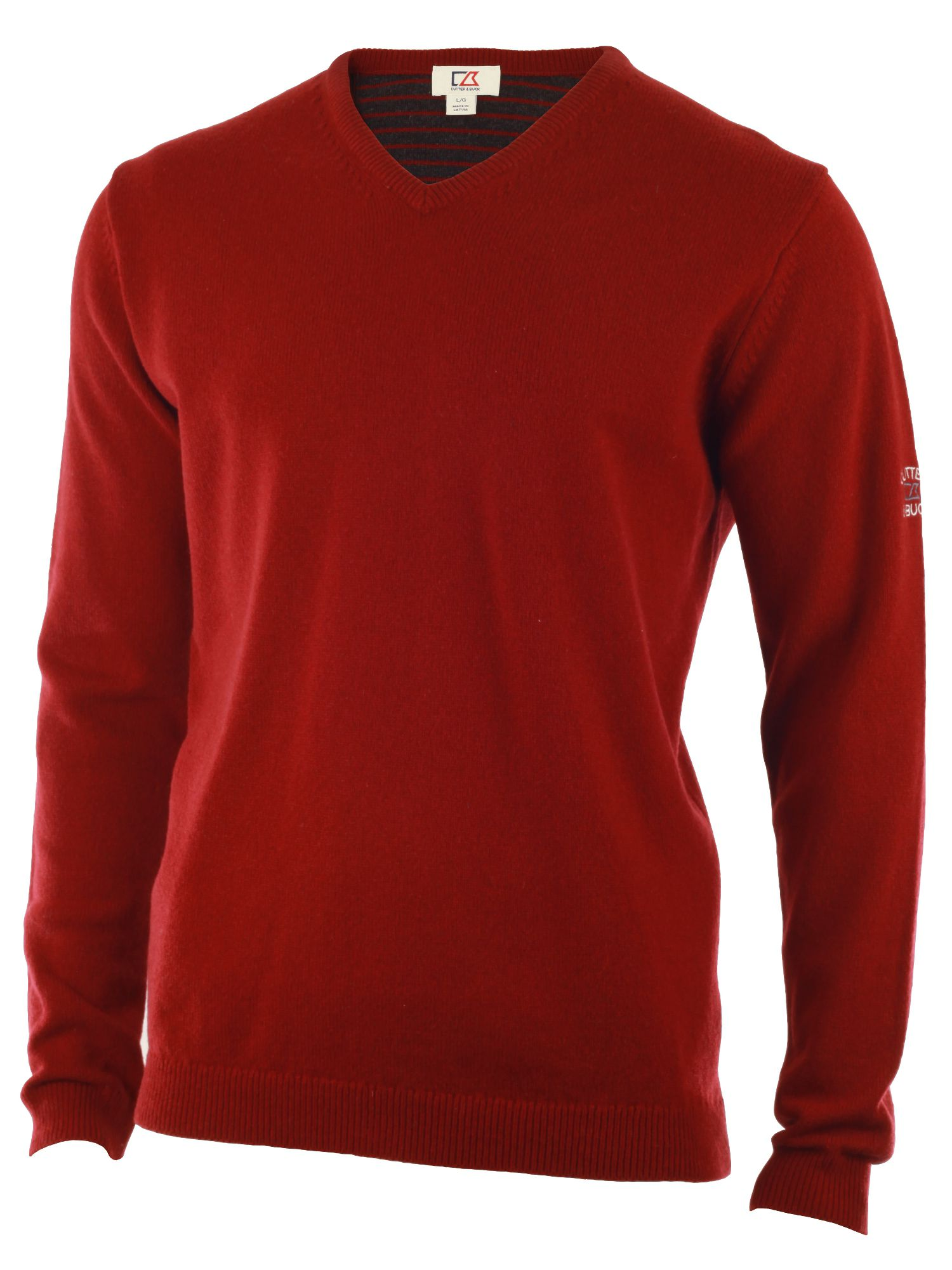 Cutter and Buck Men's Cutter and Buck Lambswool v neck sweater, Wine