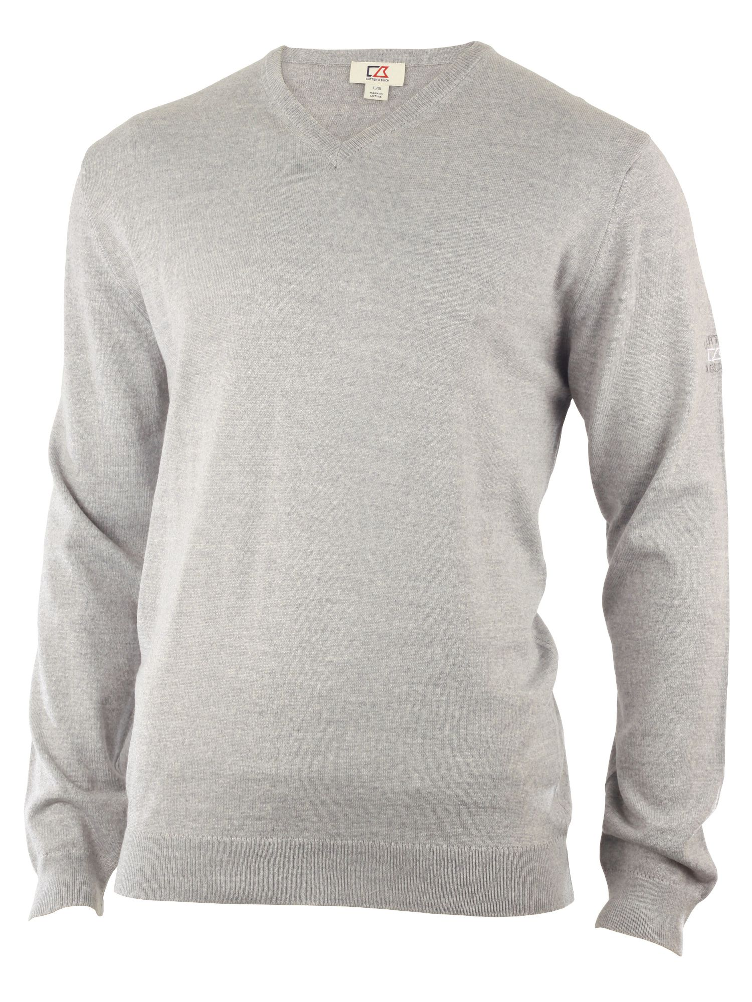 Cutter and Buck Men's Cutter and Buck Merino v neck sweater, Silver
