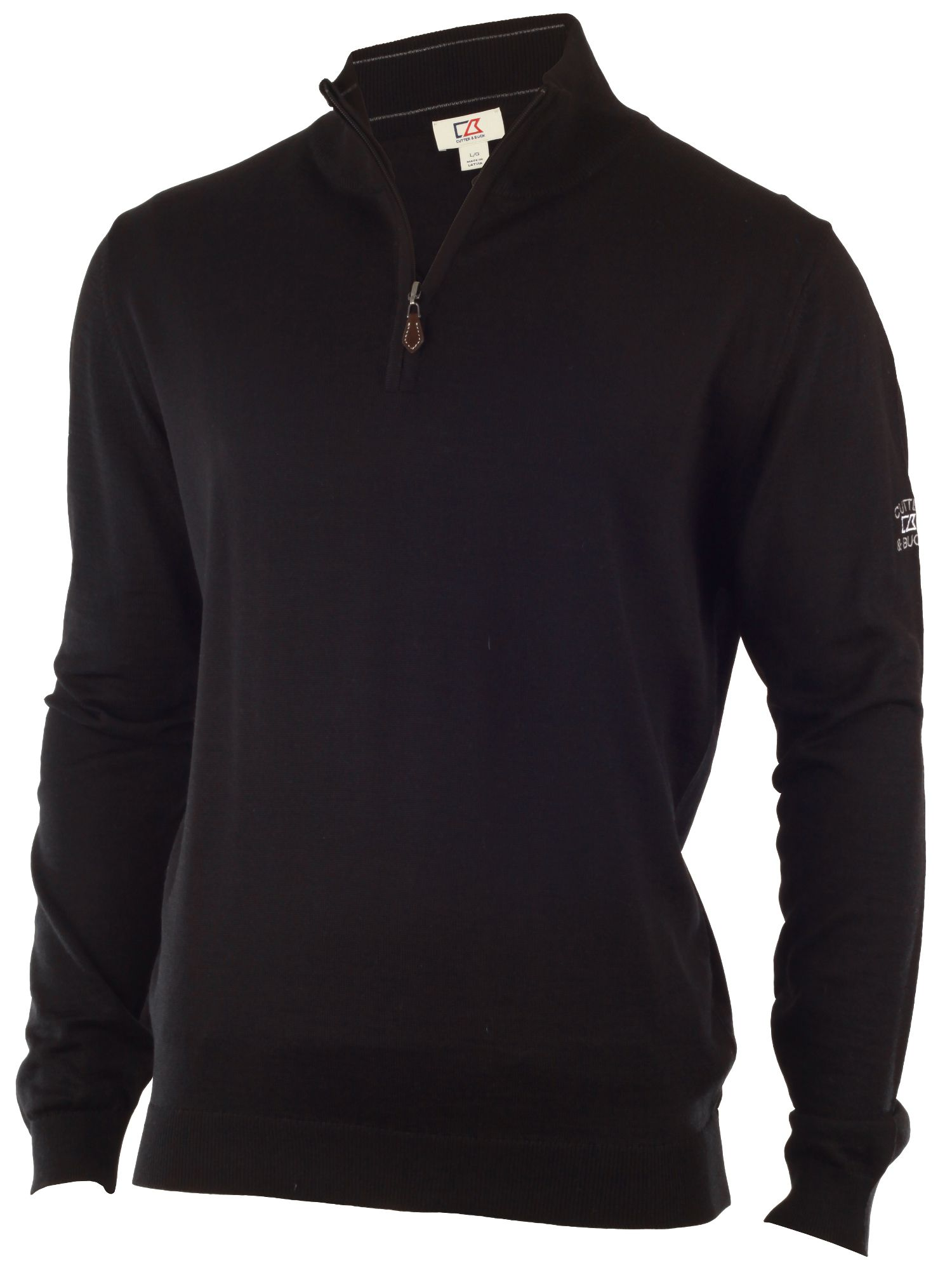 Merino zip neck sweater