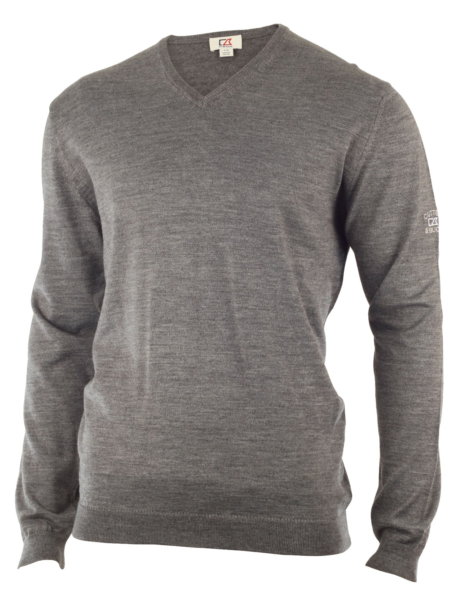 Cutter and Buck Men's Cutter and Buck Merino v neck sweater, Grey