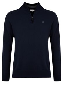 Superwool zip neck sweater