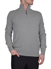 Calvin Klein Golf Superwool zip neck sweater