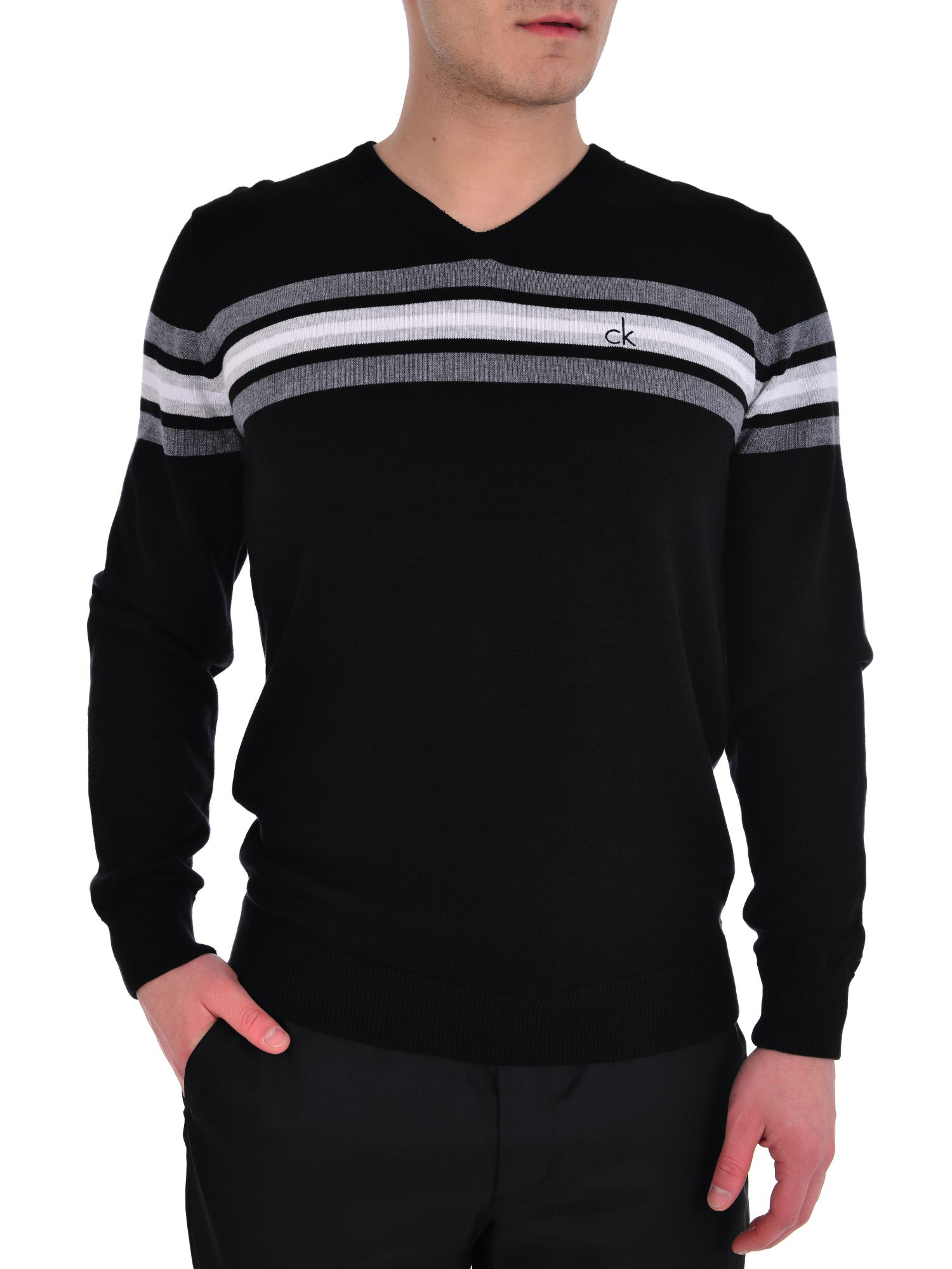 V Neck stripe sweater