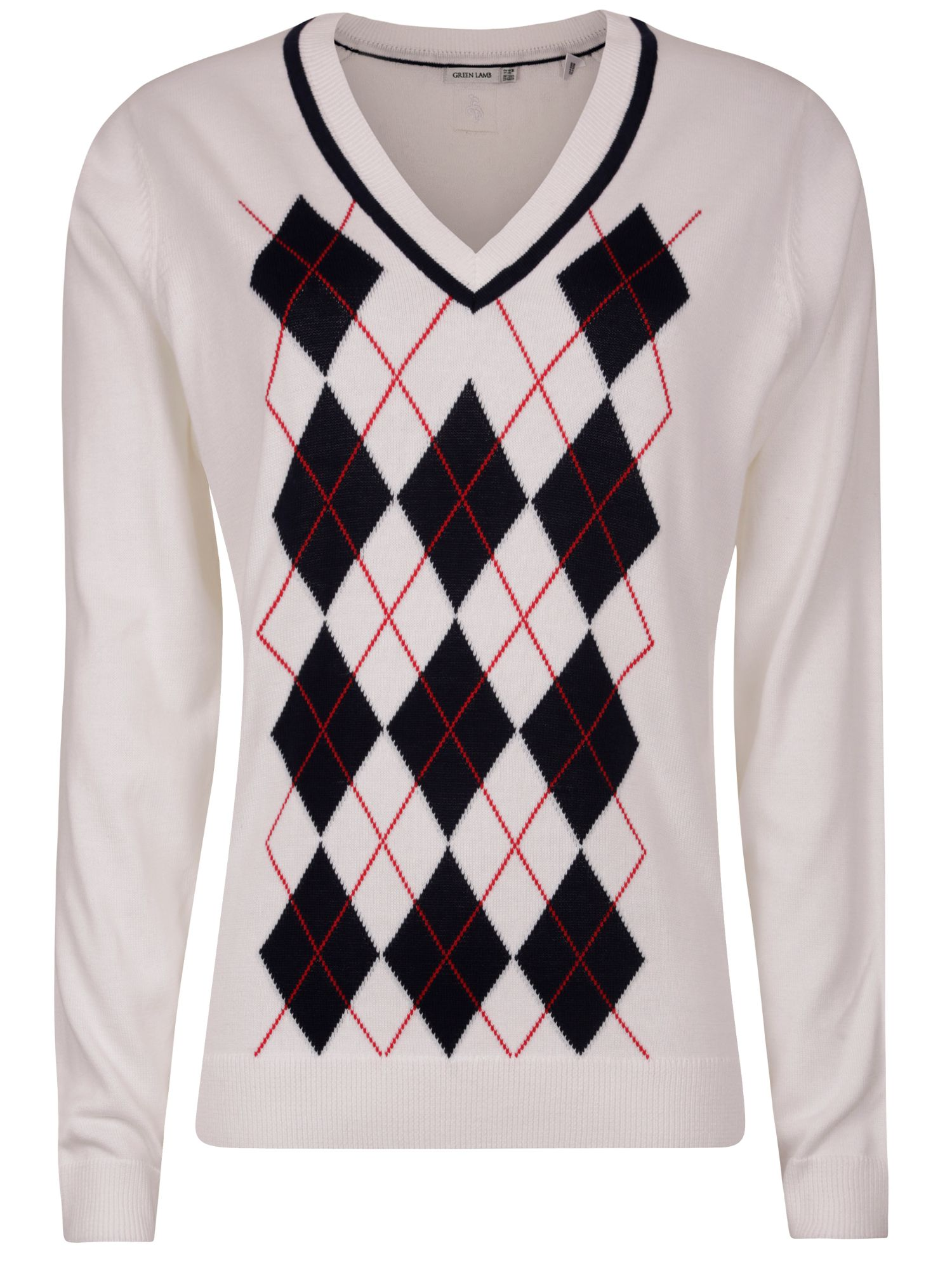Sarah front argyle sweater