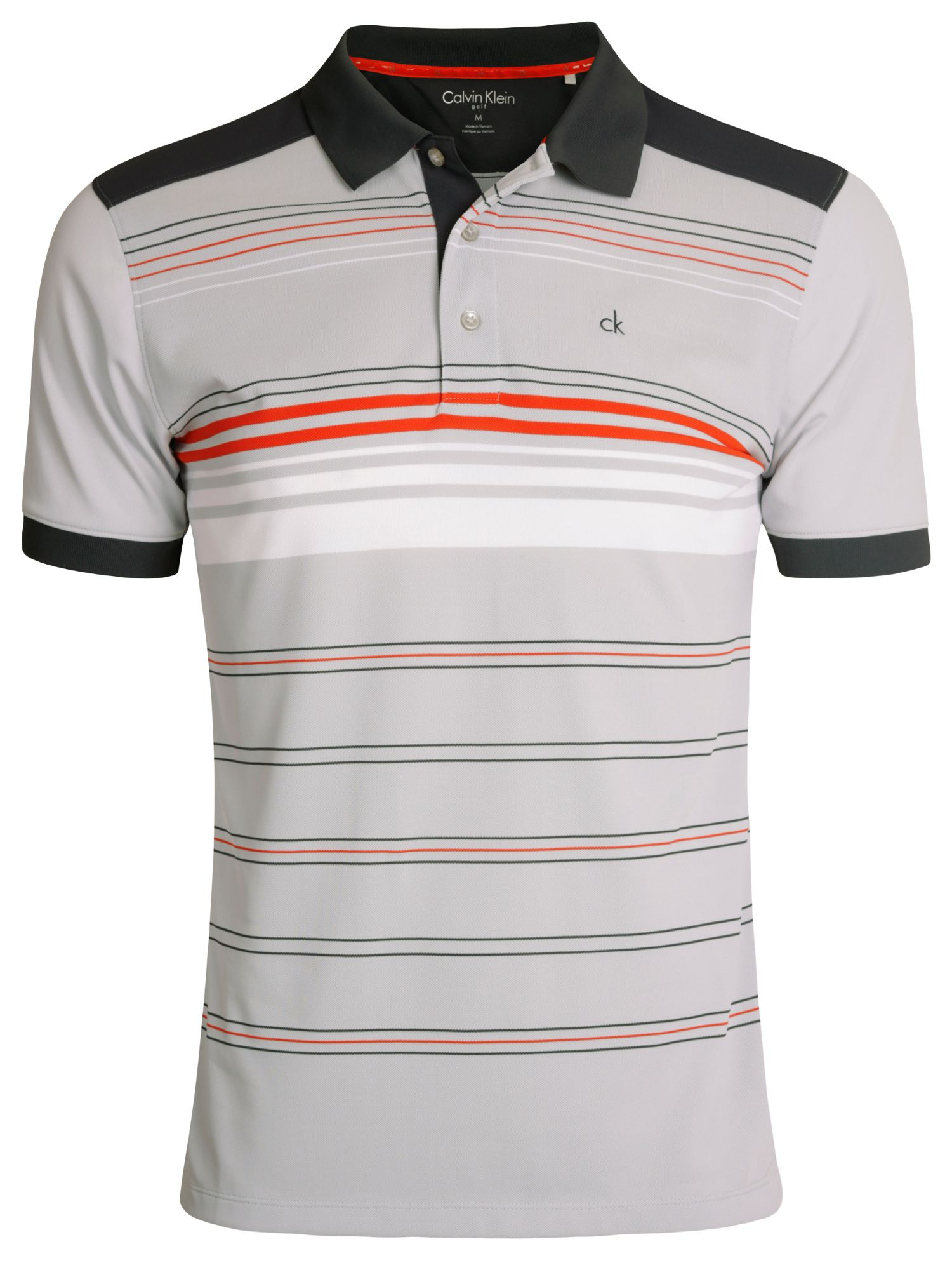 Multi stripe tech polo shirt